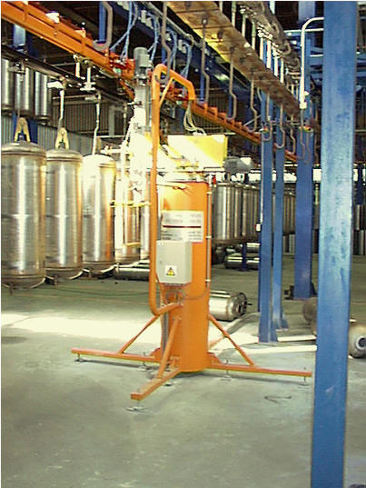 Automatic transfer unit for large boilers