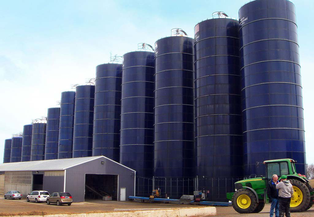 Example of glass-fused-to-steel storage silo