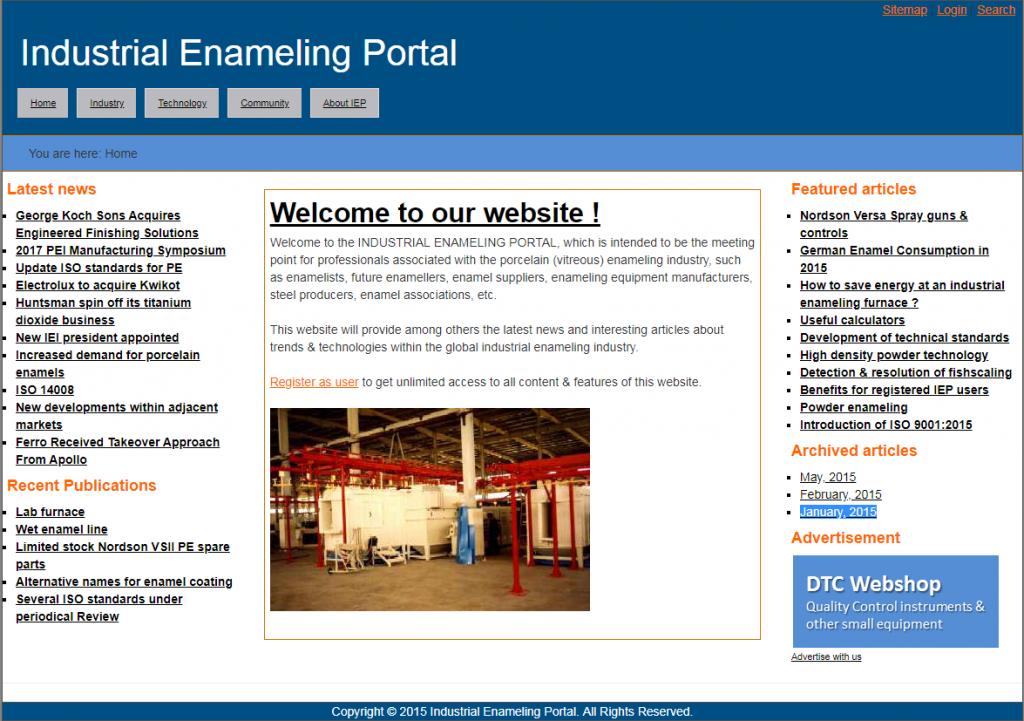 Original Industrial Enameling Portal