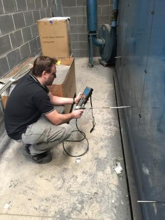 Measuring combustion efficiency of radiant tubes at gas fired enameling furnace